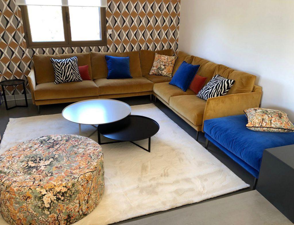 Maison contemporaine chatoyante et glamour